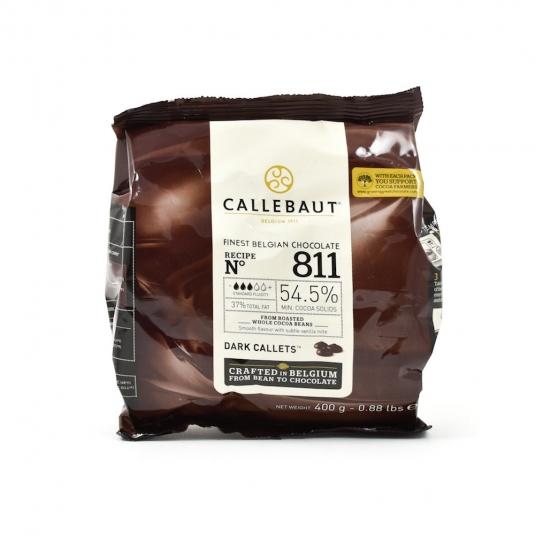 Cioccolato fondente 54,5% N.811 Sacchetto 400gr Callebaut