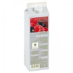 Purea di frutti di bosco 10% zucchero 1kg Ravifruit