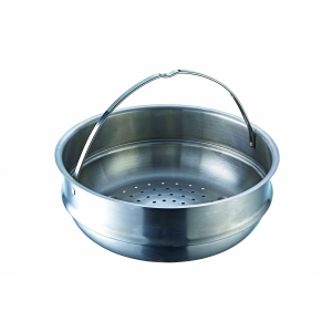 Set pentola Ø24cm 2M+coperchio con scolapasta e inserto vapore in acciaio inox Accordo Moneta