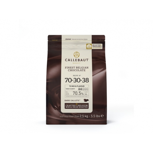 Cioccolato fondente 70,5% N.70-30-38 Sacco 2,5kg Callebaut