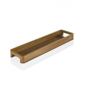 Vassoio rettangolare SERVE SLIM 60x15,5cm H5cm acacia e noce AdHoc
