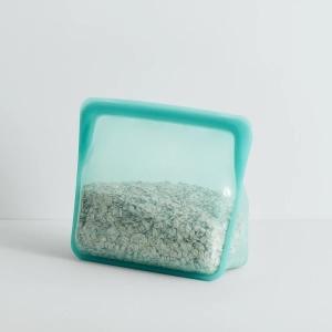 Stasher bag Stand-up Mid Aqua Sacchetto in silicone M 1,66L multiuso riutilizzabile
