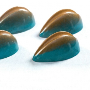 PC41 BONBONS Stampo in policarbonato pralina di cioccolato 21 impronte 4,3x2,5cm H1,7cm Pavoni