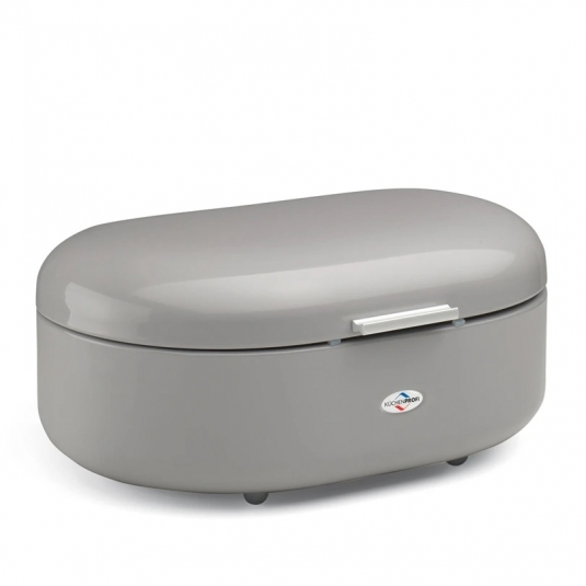 VIOLA Portapane piccolo grigio metallizzato 33x22,5cm H13,5cm Kuchenprofi