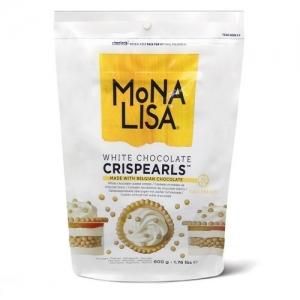 Perle croccanti di cioccolato bianco Mona Lisa Sacco 800gr Callebaut