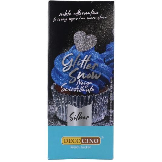 Glitter edibile in polvere argento 100gr Graziano