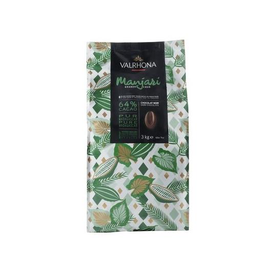 Cioccolato MANJARI 64% Sacco da 3Kg Valrhona