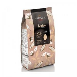 Cioccolato IVOIRE 35% Sacco da 3Kg Valrhona
