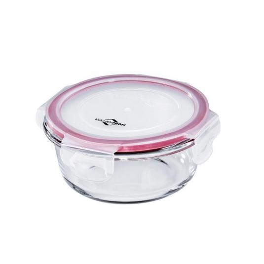 Lunchbox contenitore tondo in vetro/resina S Ø13cm 400ml Kuchenprofi