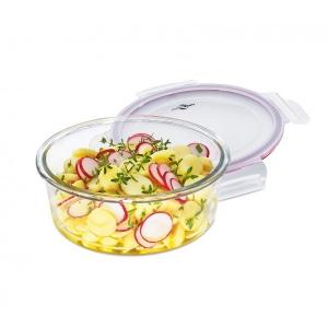 Lunchbox contenitore tondo in vetro/resina M Ø17,5cm 1L Kuchenprofi