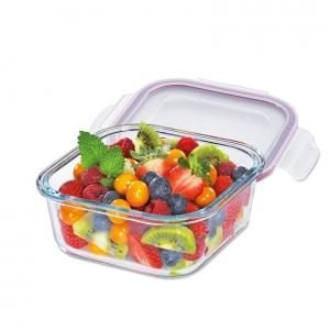 Lunchbox contenitore quadrato in vetro/resina M 16x16cm 800ml Kuchenprofi