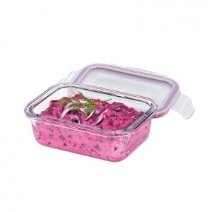 Lunchbox contenitore rettangolare in vetro/resina S 15x11cm 400ml Kuchenprofi