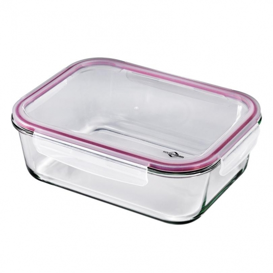 Lunchbox contenitore rettangolare in vetro/resina XL 28x21,5cm 2,5L Kuchenprofi