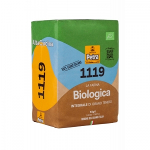 Petra 1119 Farina biologica di grano tenero tipo integrale Sacco 500gr Molino Quaglia