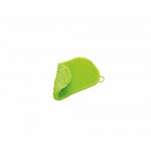 Spugna per stoviglie in silicone verde Kuchenprofi