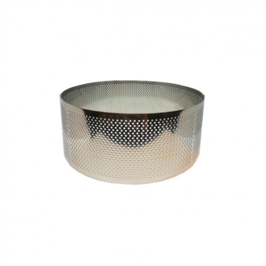 Anello inox microforato cerchio H6cm - varie misure Calder