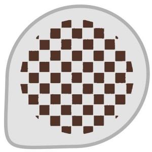 Mascherina decoro scacchiera in plastica Ø26cm Martellato