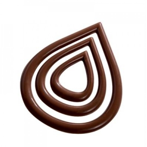 20-D023 GOCCIA Stampo in policarbonato per decorazioni in cioccolato Martellato