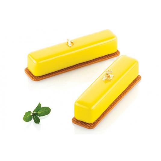 STRIPE ÉCLAIR 95 Stampo in silicone 8 impronte 13x2,8cm H2,8cm + cutter Silikomart