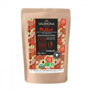 Cioccolato MILLOT 74% Sacchetto da 250gr Valrhona