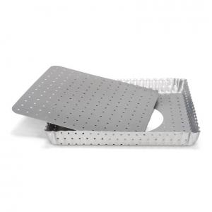 Stampo Quiche Quadrata Microforata fondo mobile Silver Top