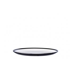 Piatto frutta Flow Ø23cm in melamina bianco/nero Mepal