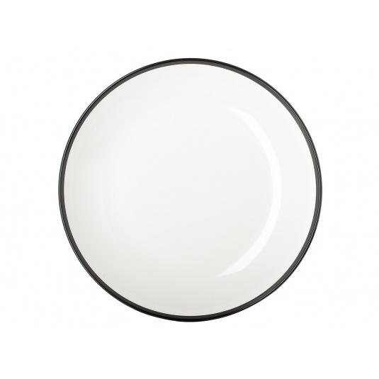 Piatto fondo Flow Ø22cm in melamina bianco/nero Mepal
