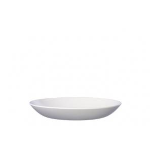 Piatto fondo Flow Ø22cm in melamina bianca Mepal