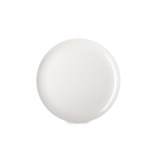 Piatto piano Flow Ø26cm in melamina bianca Mepal