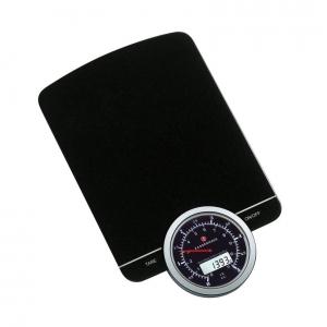 Bilancia da cucina doppio display digitale/analogico nera 26,5x16,5cm SPEED Zassenhaus