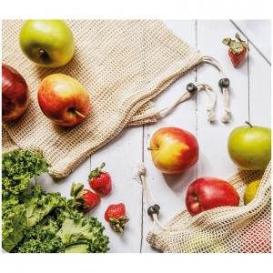 Sacchetti porta frutta e verdura in cotone Set da 3 pezzi Zassenhaus