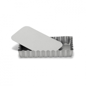 Stampo Crostatina Rettangolare Fondo Mobile Silver Top