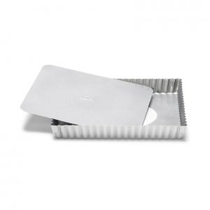 Stampo Crostata Quadrata Fondo Mobile Silver Top