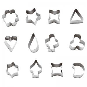 Tagliabiscotti mix di sagome in acciaio inox 10cm - set 12 pz varie misure Paderno
