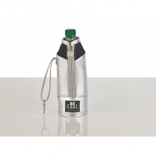 Porta bottiglie termico 500ml argento serie CITY | Be Cool
