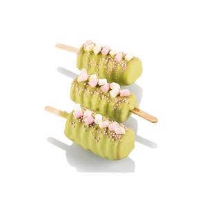 GEL04M MINI TANGO Stampo gelato in silicone 8 impronte 6,7x3,2cm H2,2cm - 2 pz + 100 stecchi + vassoio Silikomart