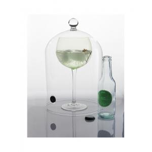 Campana per cocktail in vetro borosilicato con valvola serie Aladin 100% Chef