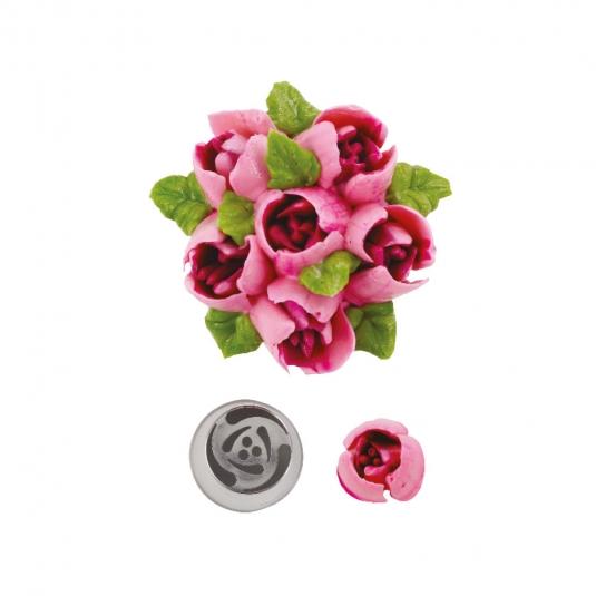 Bocchetta diretta 3D rosa N.242 in acciaio inox Decora