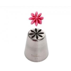 Bocchetta fiorellino N.25 in acciaio inox Decora