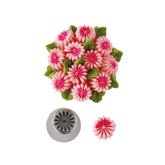 Bocchetta diretta 3D margherita N.31 in acciaio inox Decora