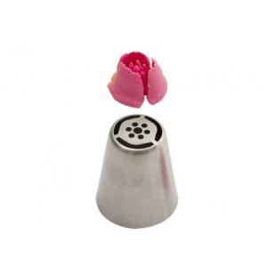 Bocchetta diretta 3D tulipano a 3 petali N.245 in acciaio inox Decora