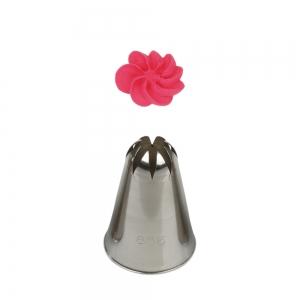 Bocchetta fiore grande N.856/1C in acciaio inox Decora