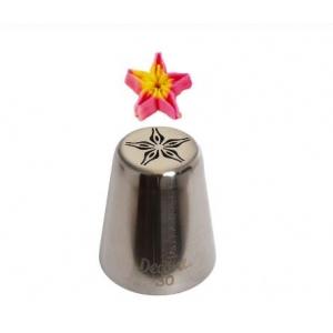 Bocchetta fiore a stella N.30 in acciaio inox Decora