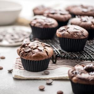 Pirottini jumbo muffin neri in carta da forno Ø5,5cm H4,5cm 60 pezzi Decora