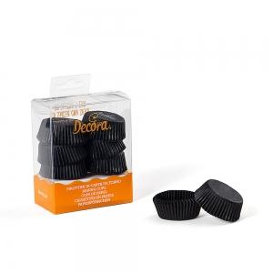 Pirottini tartellette neri in carta da forno Ø4cm H2cm 120 pezzi Decora