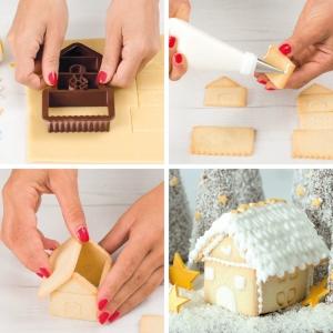 Tagliabiscotti CASETTA 3D in plastica Decora