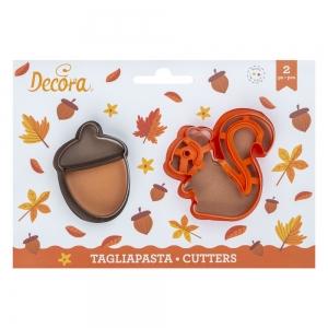 Tagliabiscotti MONSTERS in plastica - set 2 pz Decora