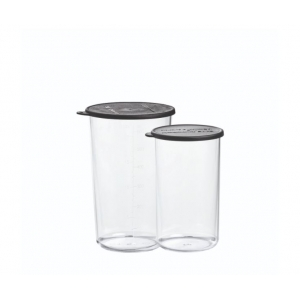 Bicchieri graduati in Tritan con coperchio - set 2 pz 400ml/600ml Bamix