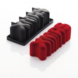 XMAS K079S Stampo tronchetto in silicone 25x8cm H7,5cm Pavocake