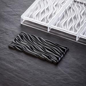 FLUID PC5030FR by Vincent Vallée Stampo in policarbonato tavoletta di cioccolato 3x100gr Pavoni